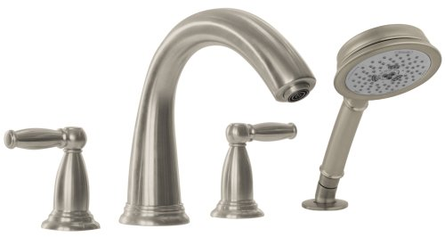 Hansgrohe 06123820 Swing C Trim 4-Hole Roman Tub Set, Brushed (Nickel Roman Tub Set)