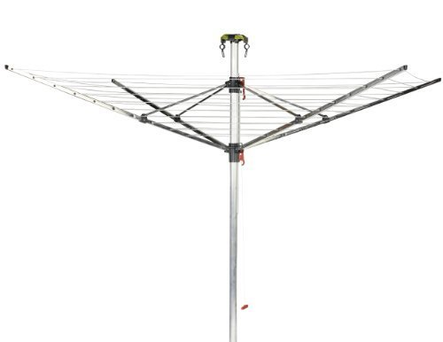 Vileda Viva Air Protect 4 Arm Rotary Dryer with Integrated Cover - 50 m by Vileda