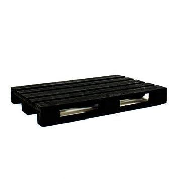 Dydaya 4 Palets Europeos Negros de 80x120 de Madera Lijados y Pintados de Negro para Muebles y Decoración (Negro, 4)