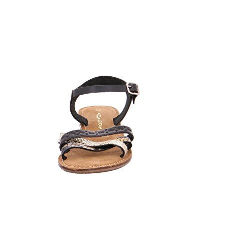 Quick-Schuh Sandl.bis30 GL.B.ABS 0Schwarz/Gold