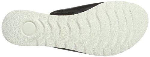 Gabor Shoes Comfort, Sandalias con Cuña para Mujer Negro (schwarz Jute)