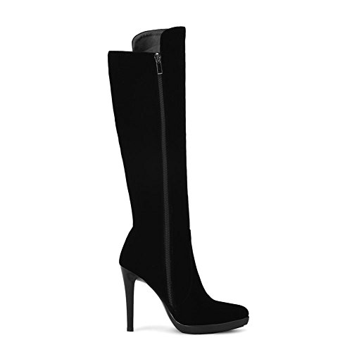 Thin and Women Knee KingRover Match Black Heel All Fashion Toe Women Boots Boots High with Women's Pointed for qxSxBwX