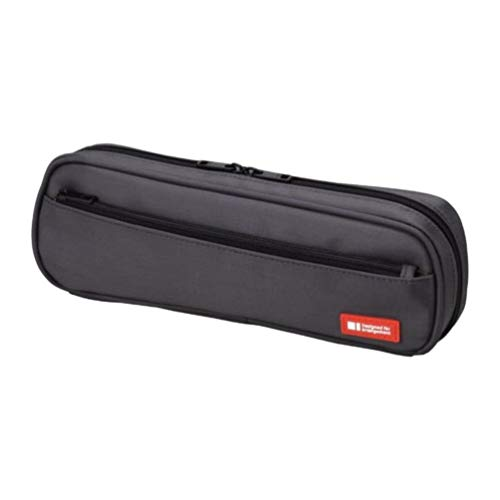 LIHIT LAB Pen Case, 9.4 x 1.8 x 3 inches, Black (A7552-24)