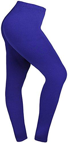 Lataly Women's Plus Size Leggings Summer Lightweight Breathable Yoga Legging Color Blue Size XL Plus