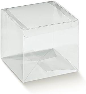 Caja transparente PVC acetato mm.80 x 80 x 110 pz.50: Amazon.es ...