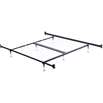 Amazon Com Queen Size 9 Leg Metal Bed Frame With