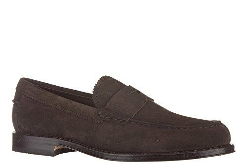 Tod's mocasines en ante hombres nuevo formale marrón