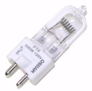 500w 120v Bulb Lamp (SYLVANIA 54875 - FTK - Stage and Studio - T6 - 500 Watt Light Bulb - 120 Volt - GY9.5 Base -)