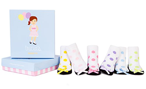 (Trumpette Baby Girls Sock Set-6 Pair, Tricia's - Assorted Colors, 0-12 Months)