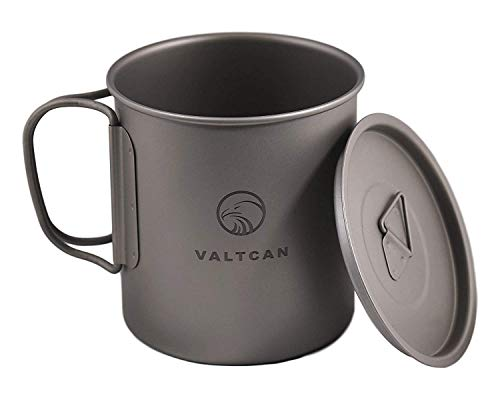 Valtcan 450ml Titanium Camping Cup with Tight Lid