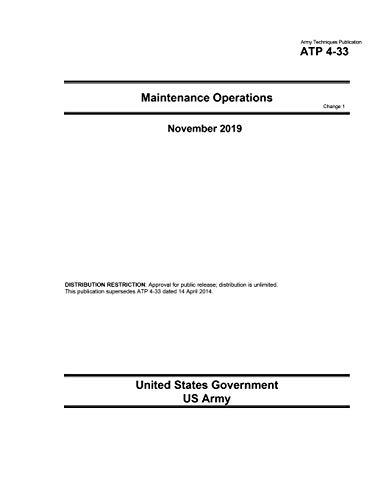 Army Techniques Publication ATP 4-33 Maintenance