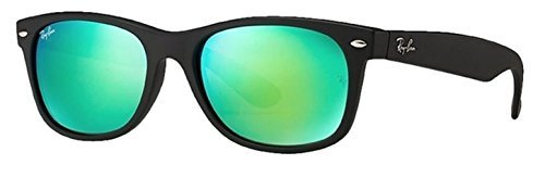 Ray Ban RB2132 New Wayfarer 622/19 Green Mirror - 52 Rb2132 Wayfarer New 622