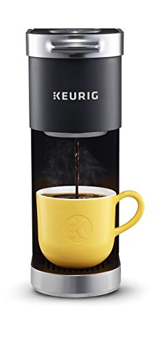 Keurig K-Mini Plus Single Serve K-Cup Pod Coffee Maker, with 6 to 12oz Brew Size, Stores up to 9 K-Cup Pods, Travel Mug Friendly, Matte Black (Renewed)