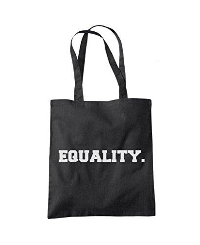 Equality - Human Rights Feminist - Tote Shopper Fashion Bag Black