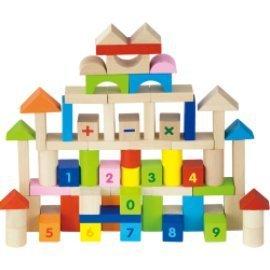 Viga - 59696 -Jeu de construction en bois x 100 briques blocs jouet enfant