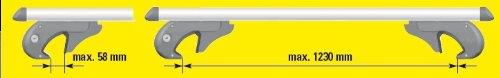 Unitec 75324 Aluminium Roof Rails 1.35 m