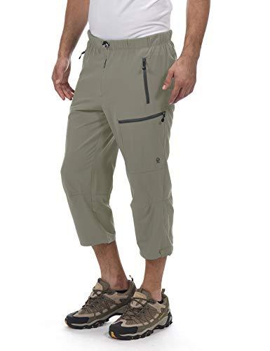 Little Donkey Andy Men's Outdoor Stretch Quick Dry Hiking Capri Pants Sage Size XXL - Capri Dry