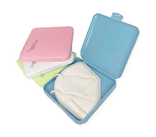 🥇 Haioo 4 Unidades de Caja de Mascarillas de Plástico Almacenamiento de Mascarillas Cajita Porta Máscaras Caja para Guardar Mascarilla Evitar Contaminación y Polvo