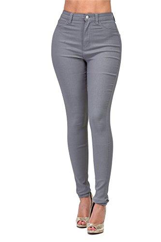 Junior Stretch Jeans - L.B FASHION High Waisted Jeans Juniors Butt Lift Curvy Slim Denim Stretch Skinny Jeans Teen Girls Women Plus Size (Z-Grey, M)