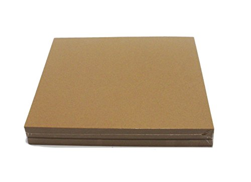 Brown Chipboard 100 Point Extra Thick 12 x 12 Inches, .100 Caliper Heavy Cardboard 2.54 mm Thick by Kling Magnetics
