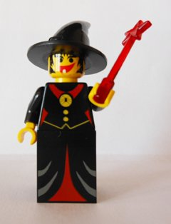 [LEGO Witch with Red Dress & Wand (Castle Fright Knight)] (Spirt Halloween)