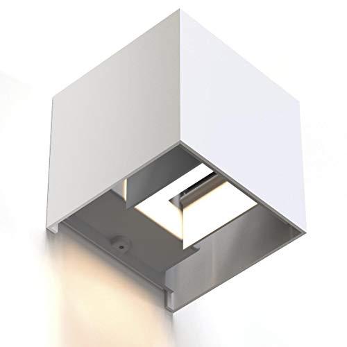 Hama LED-wandlamp voor binnen en buiten (dimbare smart home lamp voor Alexa en Google Assistant, spraakbesturing en via…