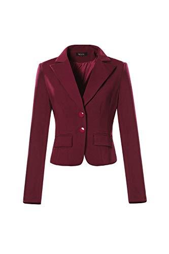 Camicia Lunga Prodotto Donna Autunno Bavero Business Tailleur Giacca Ufficio Chic Da Rosso Moda Primaverile Di Ragazza Sottile Plus Con Button Manica Blazer PTwxUqp