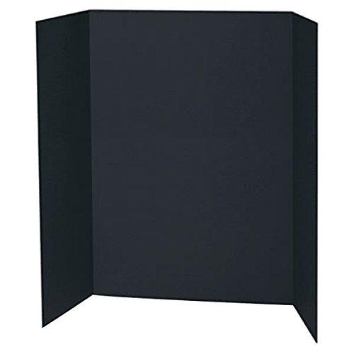 TableTop King 3766 Spotlight 24'' x 36'' Black Tri-Fold Corrugated Presentation Display Board - 24/Case by TableTop King