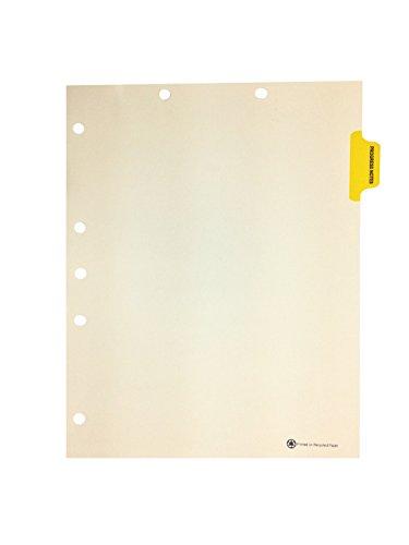 Medical Arts Press Match Colored Side Tab Chart Dividers- Progress Notes, Position 2 (25/pkg)