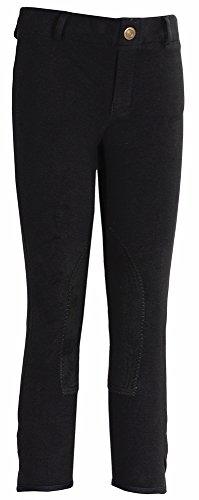 Tuffrider Riding Pants (TuffRider Girl's Starter Lowrise Pull-OnBreech, Black, 12)