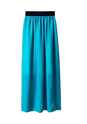 Chiffon Sexy Elastica Home color Vita Sottile Purple Size Pure Della Donne Sky Delle One Size Girls Gonne Di Dress Blue Colore 1588qPv