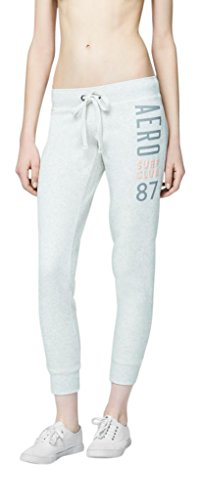 Aeropostale Womens Aero Jogger Sweatpants X-Large Light Gray