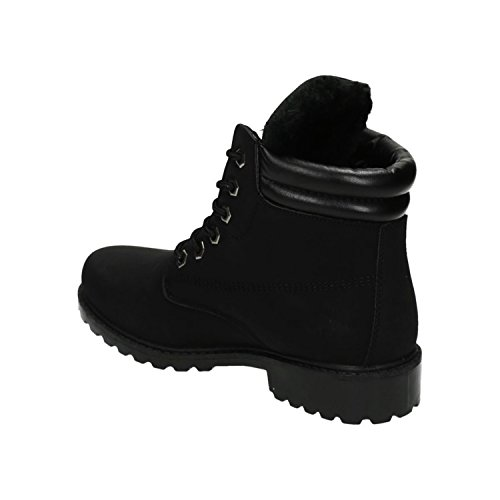 negro Mujer de Botas Of Shoes King trabajo FHqY7x