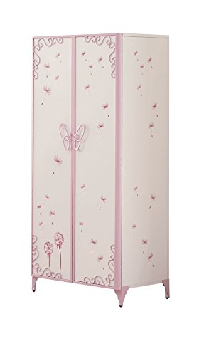 Acme Furniture 30540 Priya II 30540 Armoire, White & Light Purple