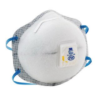 3M Standard P95 8577 Disposable Particulate Respirator With Cool Flow Exhalation Valve And Adjustable M-Nose Clip - Meets NIOSH And OSHA Standards (10 Each Per Box)