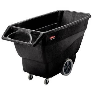 Black Rubbermaid Tilt Truck, 1/2 Cu Yd
