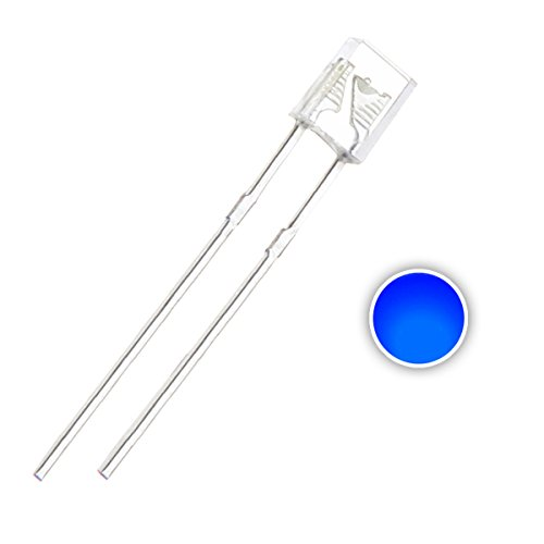 Chanzon 100 pcs 2x3x4 mm Blue LED Diode Lights (Square Rectangle Clear Transparent DC 3V 20mA) Lighting Bulb Lamps Electronics Components Light Emitting Diodes