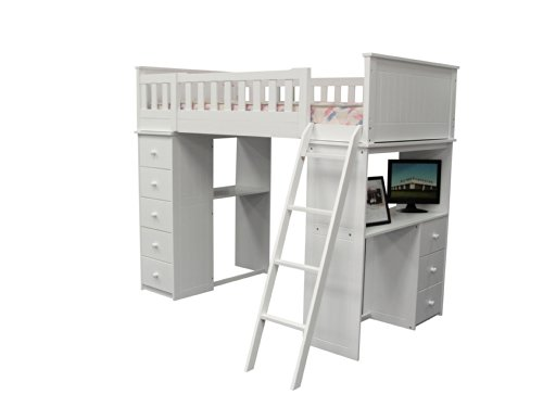 (ACME Willoughby White Loft Bed)