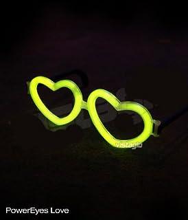 Lot de 10 paires de Lunettes Fluo Coeur Jaune - idéal pour vos soirées ed03a8bdb7f1
