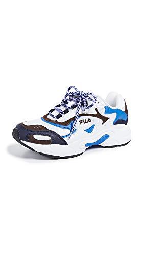 - Fila Women's Luminance Sneakers, White/Fila Navy/Pinecone, 7.5 M US