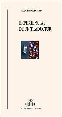 Experiencias de un traductor: 447 (VARIOS GREDOS): Amazon.es ...