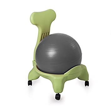 Kikka Active Chair Cadre Vert Gris Boule Chaise Ergonomique Avec Ballon D