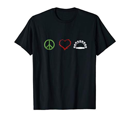 Peace Love Tambourine T Shirt ()