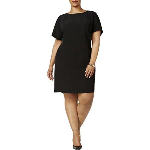 Plus Split Calvin Klein 20W Sleeve Size Black Dress Sheath pqqtw5fx