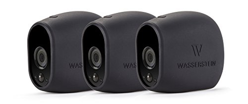 Price comparison product image 3x Silicone Skins for Arlo Smart Security - 100% Wire-Free Cameras by Wasserstein (3 Pack, Black)