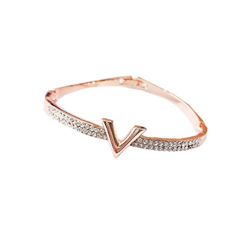 Nosterappou Atmósfera de la Moda Europea y Americana Cartas de Temperamento exageradas de Diamantes versátiles Simples...