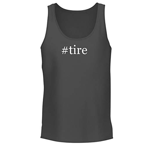 BH Cool Designs #tire - Men's Graphic Tank Top, Grey, X-Large