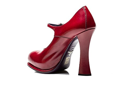 Scarpe Da Donna Con Tacco Alto Rivestite In Pelle Rosso