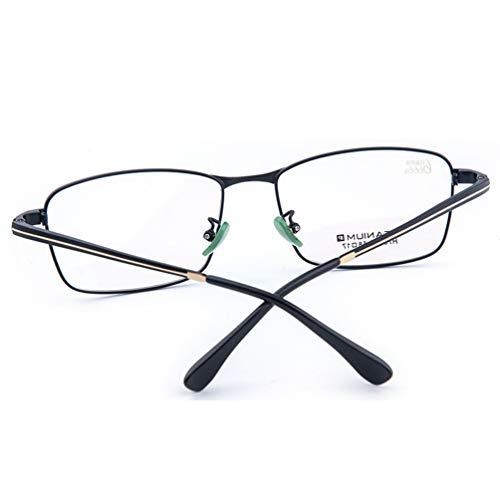 Plating Titanium Frame - BSHOEMR Watch Mobile Glasses,Anti Glare Eyeeyewear,Anti Blue Rays Eyeglasses,Titanium Glasses Frame IP Plating Process Eye Anti-Blue Glasses,Read Optics Goggles