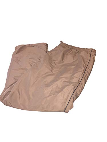 LD Sport Big and Tall Athletic Microfiber Wind Resistant Track Pants (Brown w/Black Poping, 4X-Tall) (Pants Microfiber Wind)